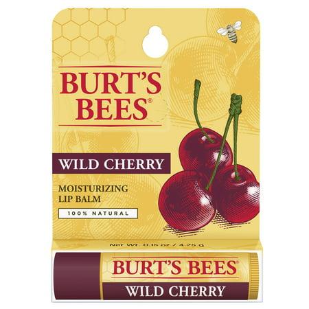 Burt's Bees 100% Naturel Baume Hydratant, merisiers, 1 Tube en blister Box