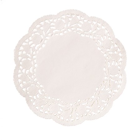 White Paper Doilies: 8 inches, 20 covid 19 (Colored Paper Doilies coronavirus)