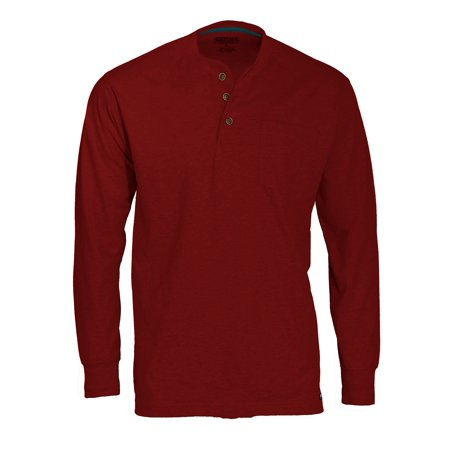Rocker Henley - Smith's Workwear Men's long tail long sleeve henley with gusset and chest pocket