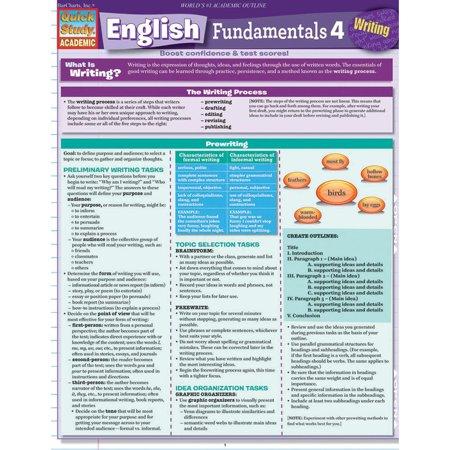 QuickStudy Bar Chart: English Fundamentals 4 - (Writing Fundamentals)