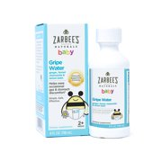 Zarbee's Naturals Baby Gripe Water, Clinically Supported Formula with Ginger, Fennel, Chamomile, Lemon Balm, , 4 Fl. Ounces (1 Box)
