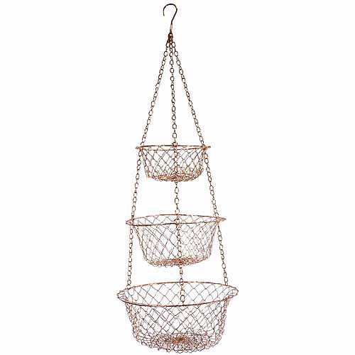 Fox Run 5211 Copper Hanging Baskets by Smart Products Worldwide
