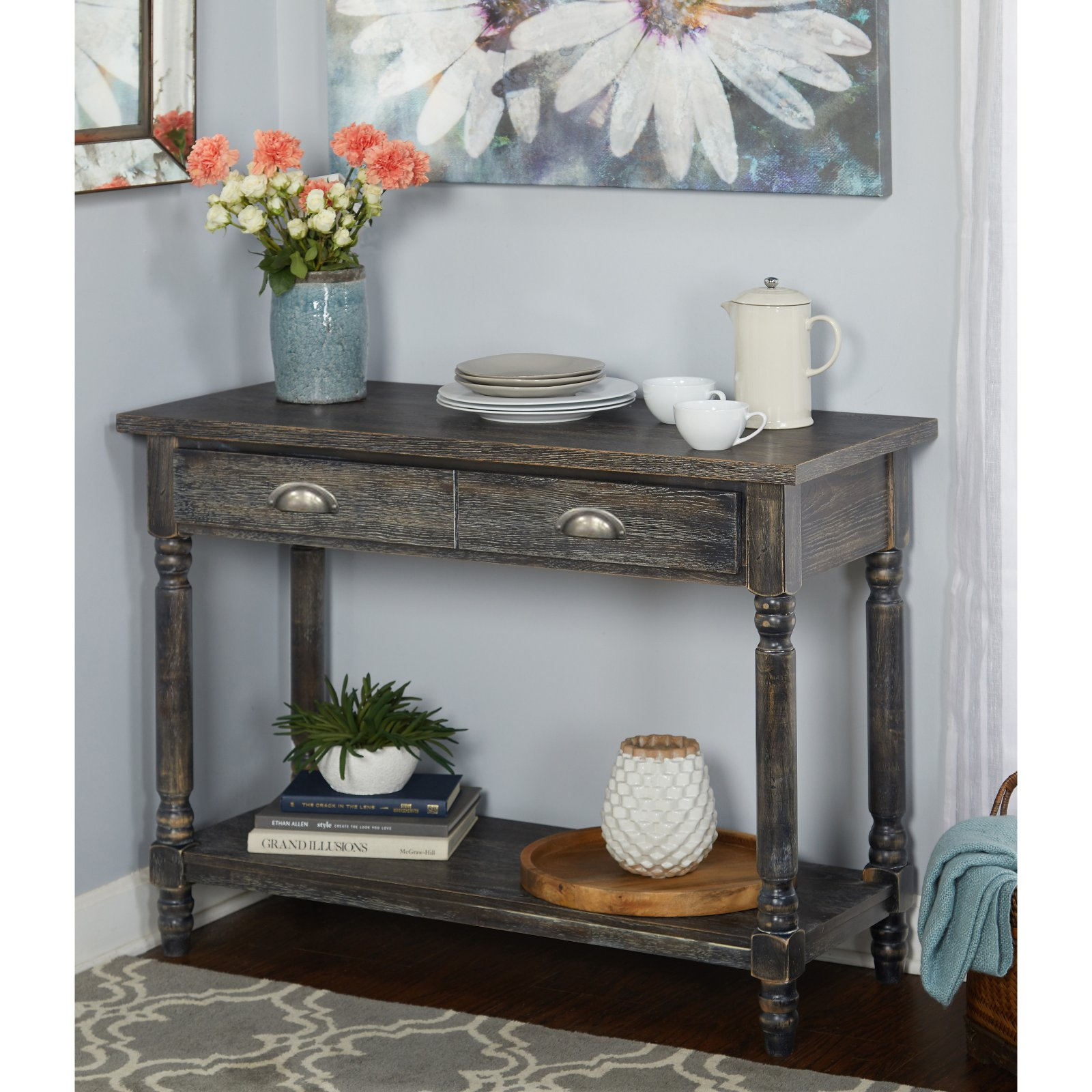Burntwood Buffet, Weathered Grey by Overstock