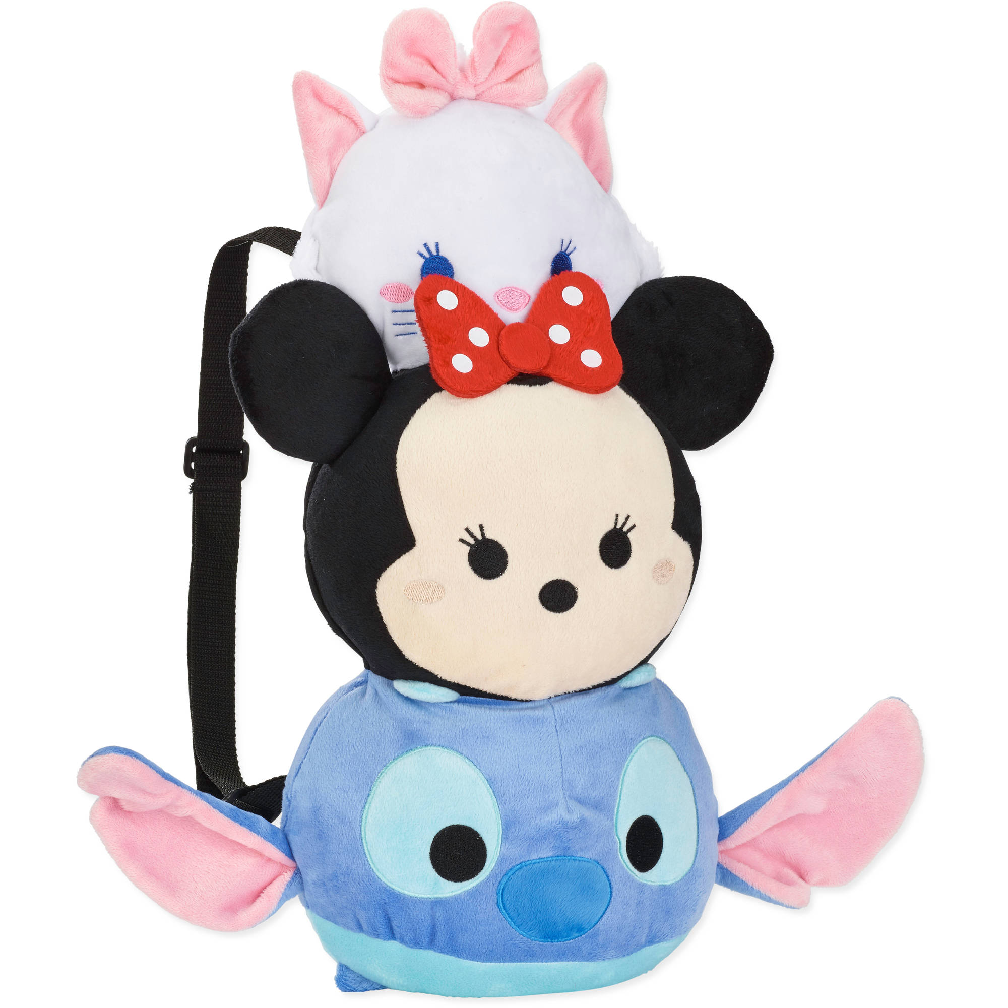 Disney Tsum Tsum Stitch Minnie Marie Plush Backpack
