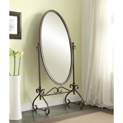 Linon Angelica 26 x 63-inch Metal Oval Cheval Mirror by Overstock