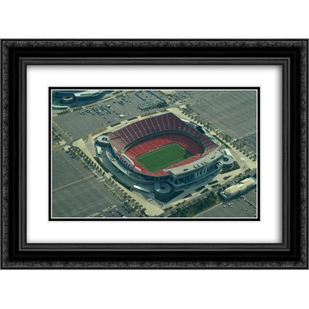 Arrowhead Stadium (Arrowhead Stadium 2x Matted 24x20 Black Ornate Framed Art Print from the Stadium Series )