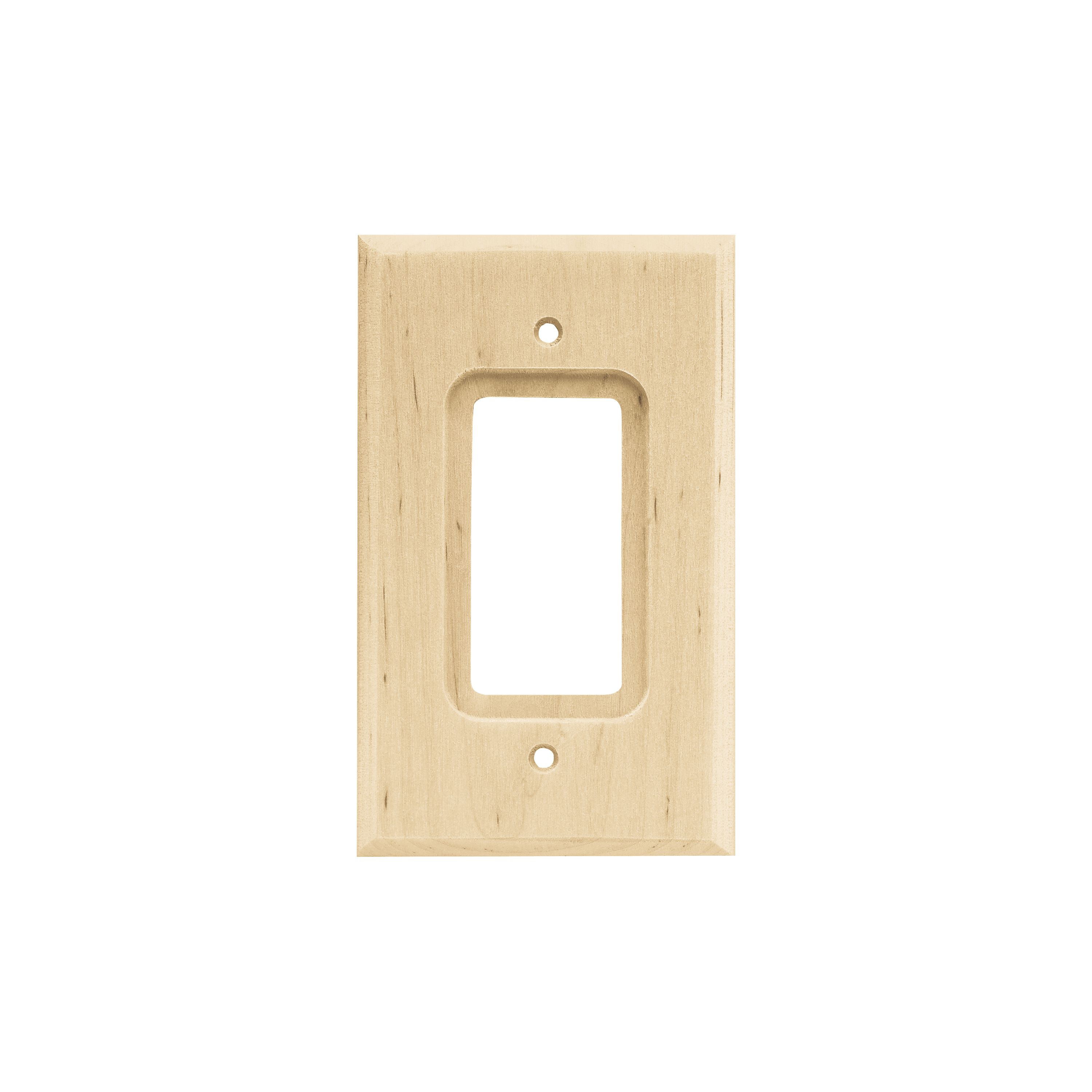 Franklin Brass Wood Square Single Decorator Wall Plate - Walmart.com