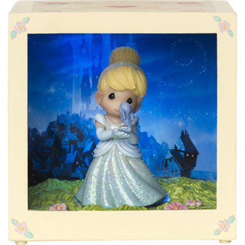 Precious Moments Disney Showcase Cinderella Resin Vinyl LED Shadow Decorative Box by Precious Moments