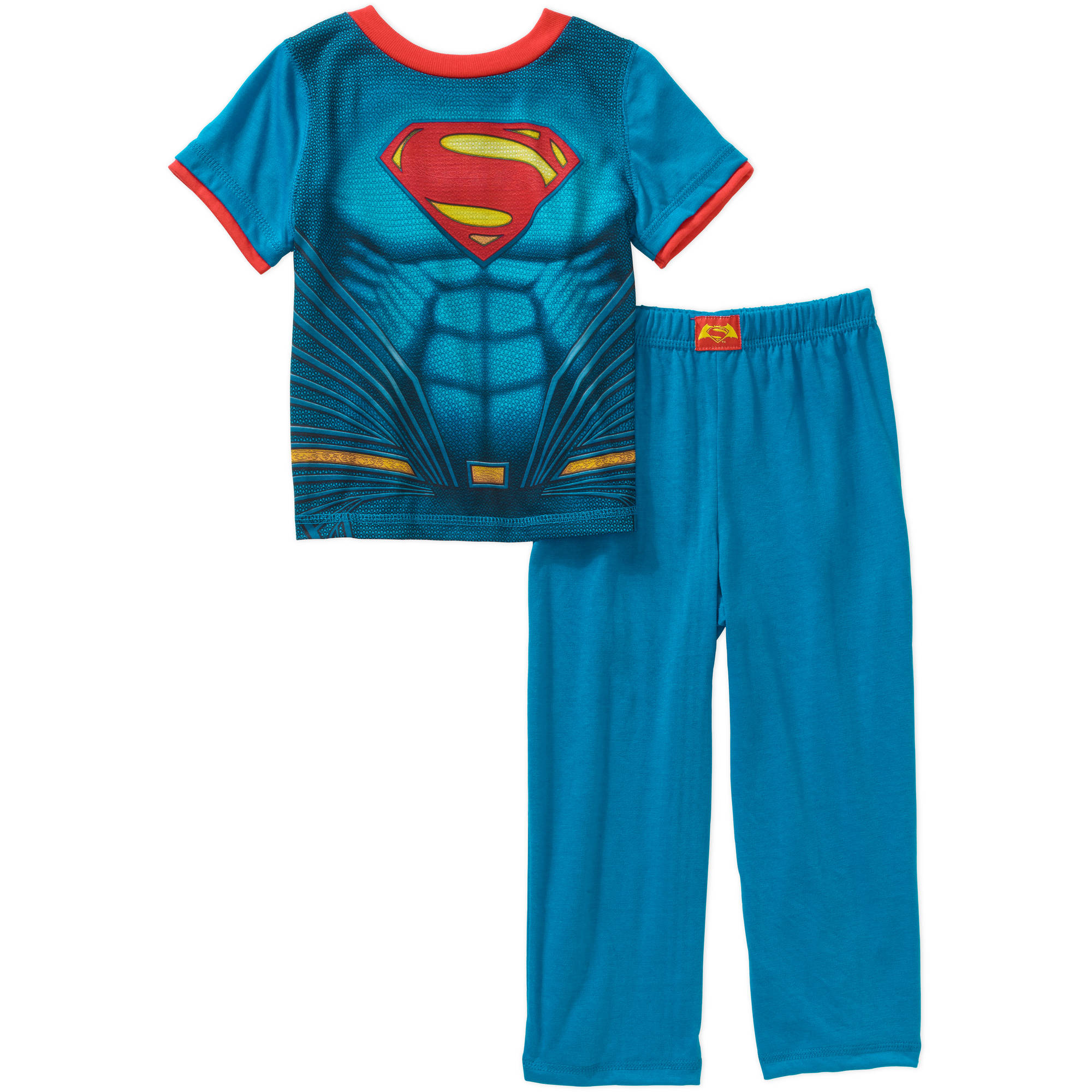 Superman Toddler Boys' Short Sleeve Caped 3-Piece Pajama Sleepwear Set - Online Exclusive