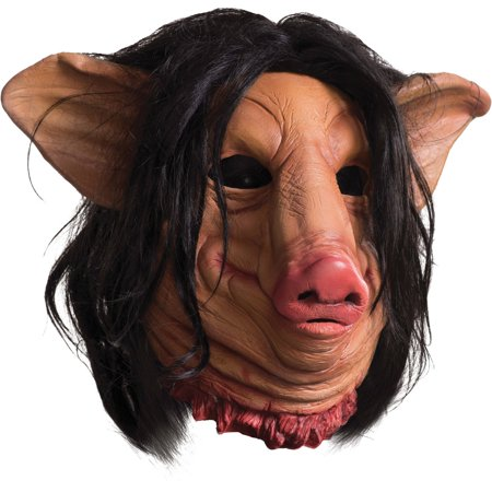 Saw Pig Face Mask Adult Halloween Accessory](Pig Masks For Kids)