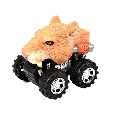 Siaonvr Mini Vehicle Animal Pull Back Cars with Big Tire Wheel Creative Gifts for Kids