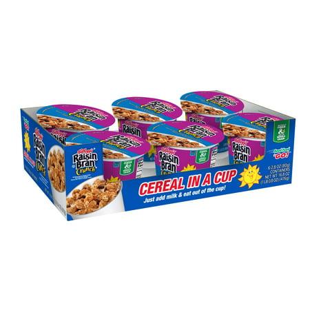 Kellogg's Raisin Bran Crunch Breakfast Cerealin a Cup, Original, 16.8 Oz, 6 Ct