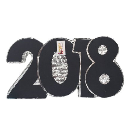 2018 New Year's Pinata Silver & Black - New Year's Colors