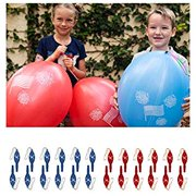 John & Judy 24 Patriotic Punch Balloons for Kids | for Memorial Day Party Supplies, Party Favors and Fourth of July Party Decorations | American Flag July 4th Punch Balls for Boys and Girls