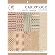 """Colorbok 8.5"""" Glitter Craft Cardstock Paper Pad, 30 Count"""