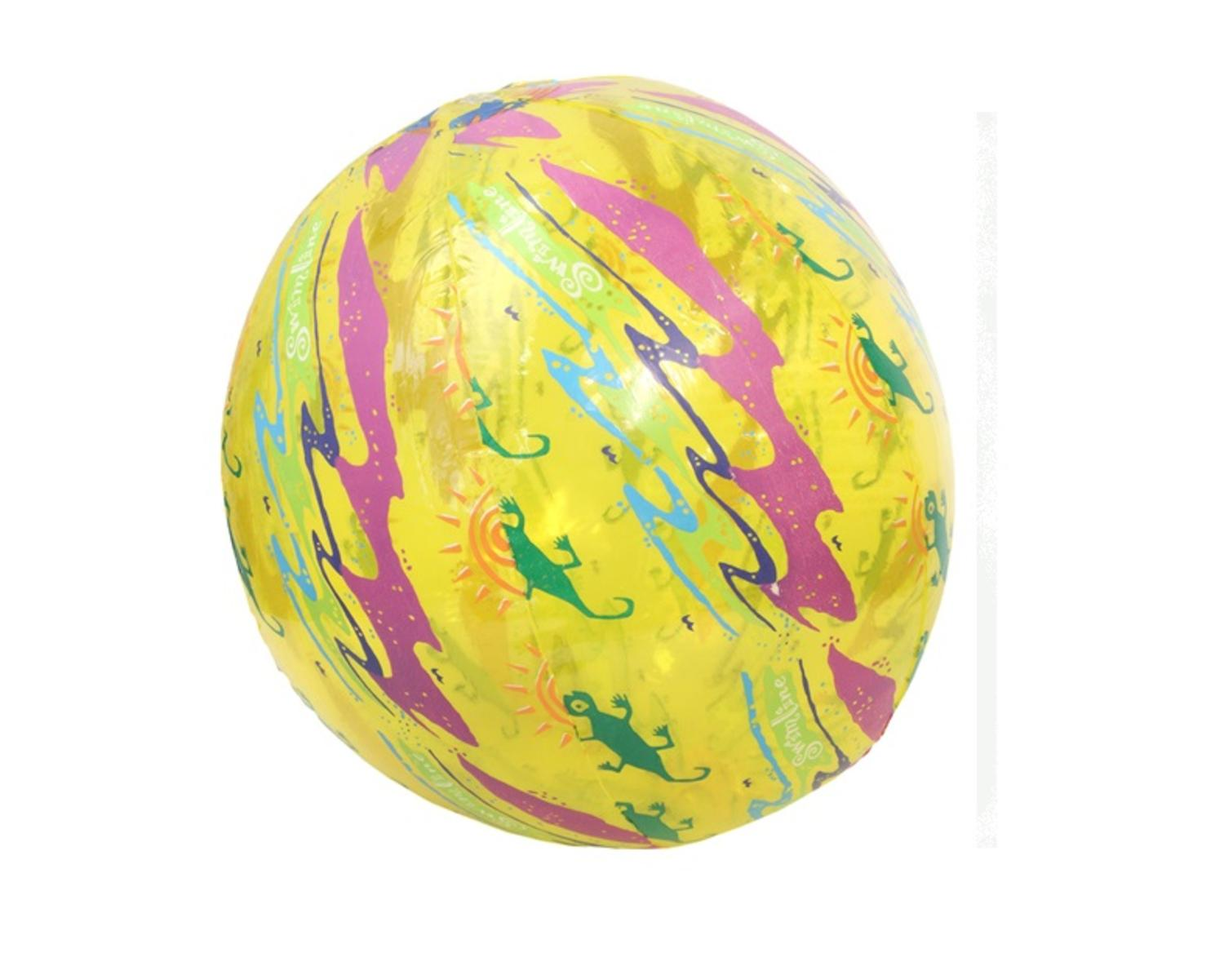 "20"" Water Sports Inflatable Yellow Printed Beach Ball Swimming Pool Toy by Swim Central"