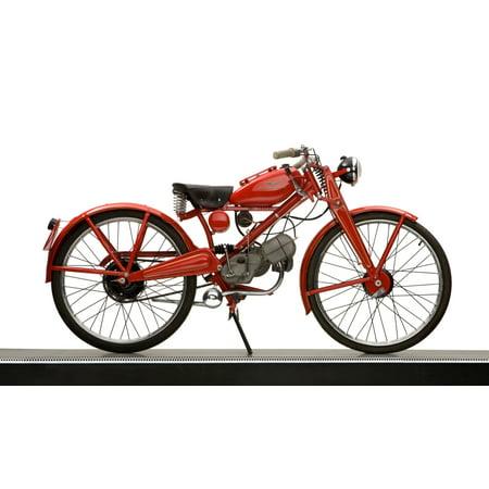 1951 Moto Guzzi Hispania 65cc Lightweight motorcycle Canvas Art - Panoramic Images (12 x 20)