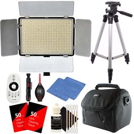 Vivitar Professional 600pcs LED Video Light Up to 2200 Lumens Brightness and Color Temperature Control Built-In LCD Display for Studio, Product Photography and Professional Video Shooting