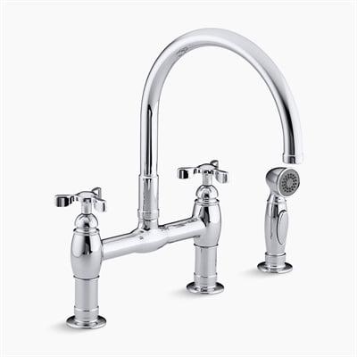 Kohler 6131 Parq Deck-Mount Kitchen Faucet w/ Spray
