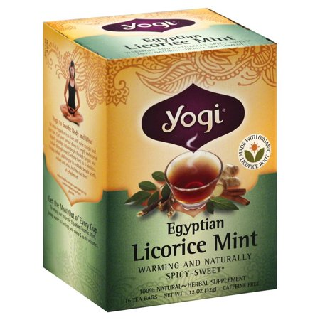 Yogi Egyptian Licorice Mint Tea, 16 Tea Bags