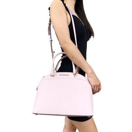 069d148df0cd2e Michael Kors Emmy Large Cindy Dome Satchel Bag Blossom Pink - Walmart.com
