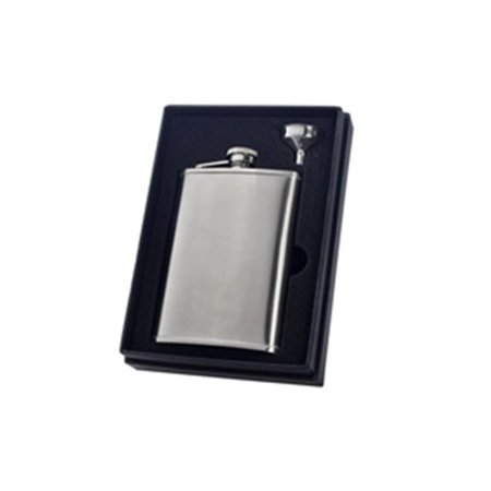 Visol VSET34-1143 Edge Satin 8 oz Liquor Flask Gift Set - image 1 of 1