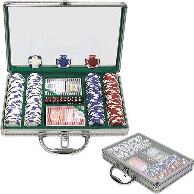 200 11. 5G Holdem Poker Chip Set with Clear Cover Aluminum Case
