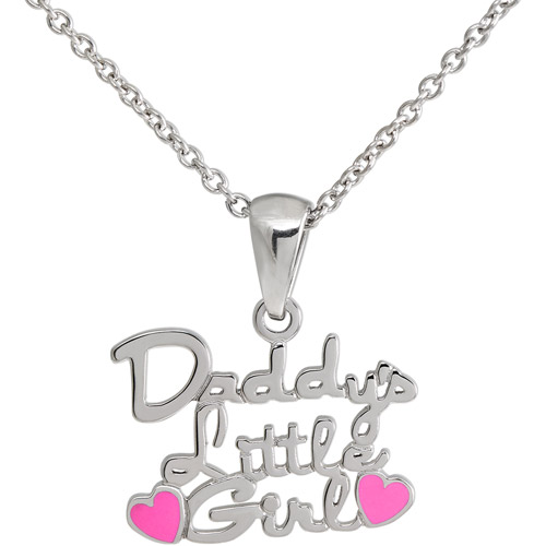 """Connections from Hallmark Girls' Stainless Steel """"Daddy's Little Girl"""" Pendant"""