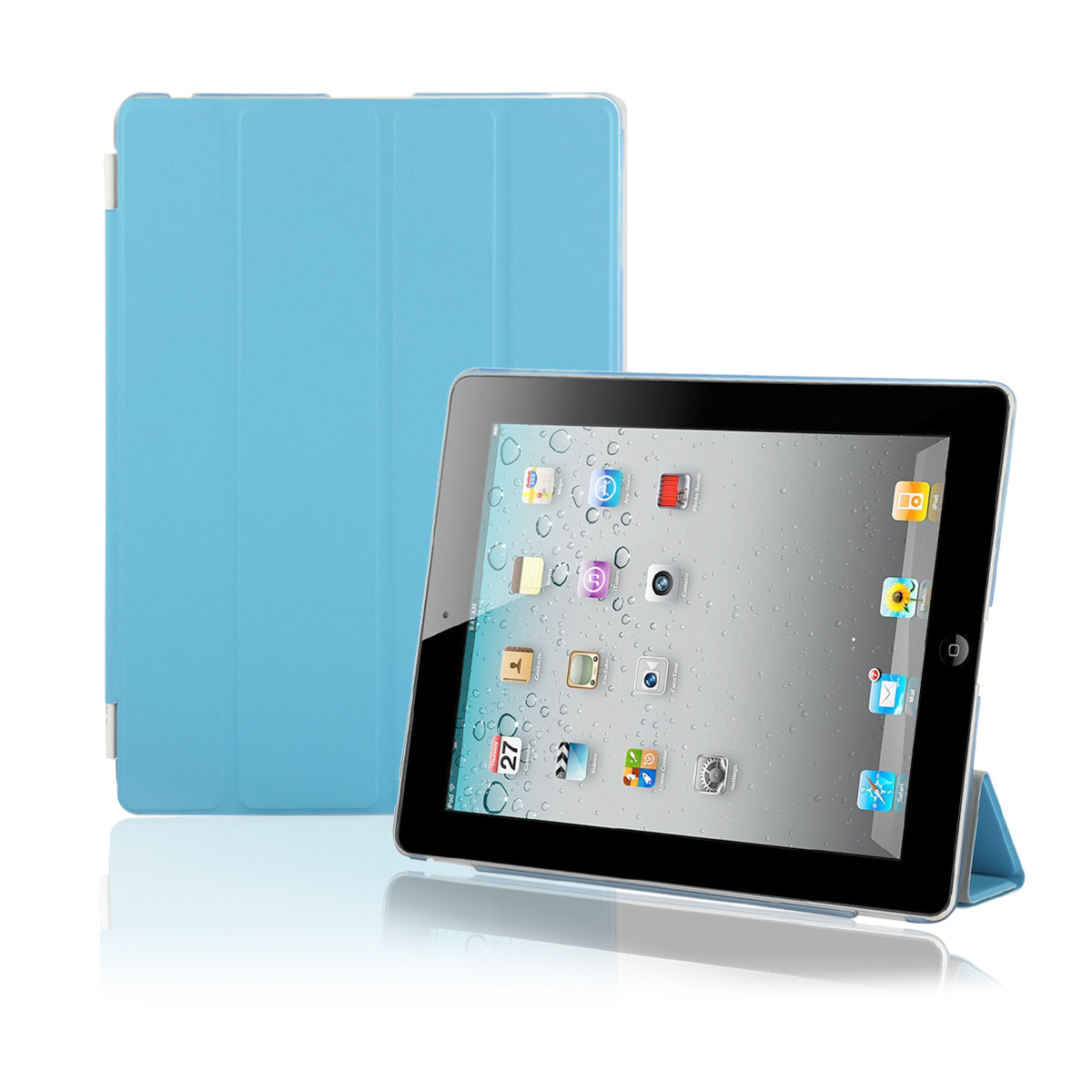 For Apple iPad 2 iPad 3 iPad 4 Smart Cover Case Shell Ultra Slim PU Leather Magnetic Automatic Wake-UP Sleep + freeStylus/Clean Cloth/screen Protector
