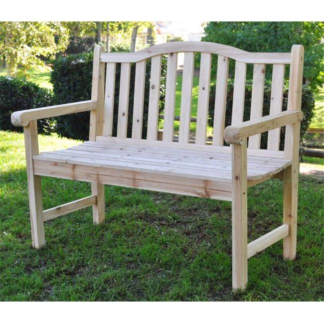 Shine Company 4212N The Belfort Garden Bench - Natural