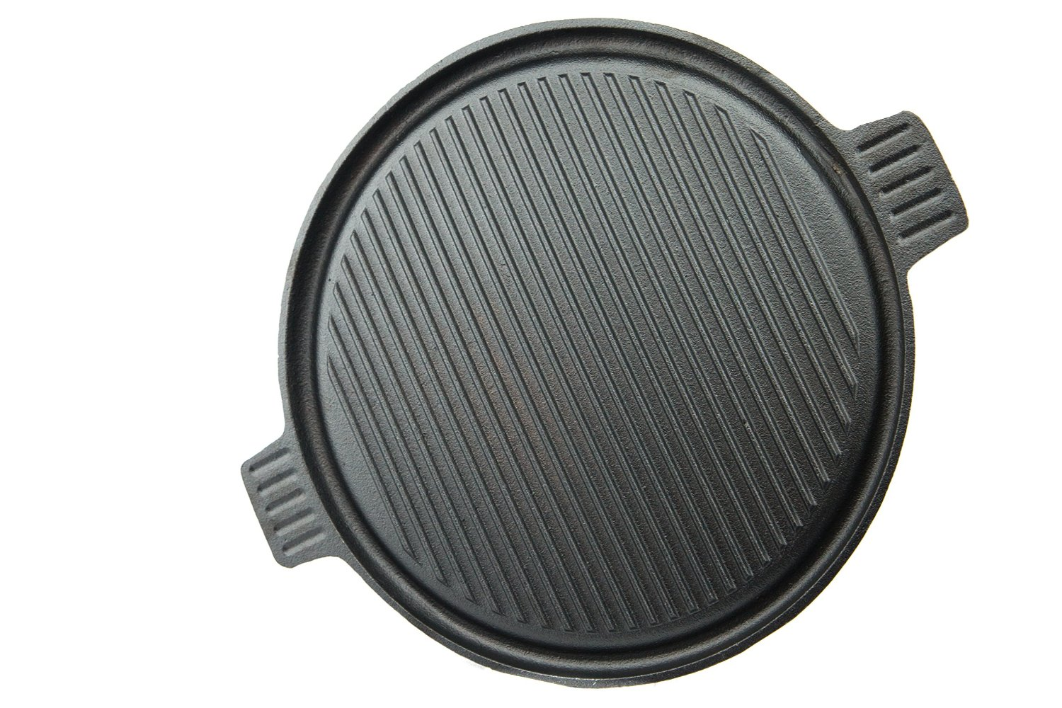 14 inch 3 in 1 Reversible Cast Iron Pizza Pan, Grill and Griddle by Useful.