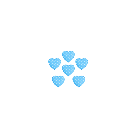Expo Int'l BaZooples Iron-on Patch Applique Puffy Heart Pack of 6 ()