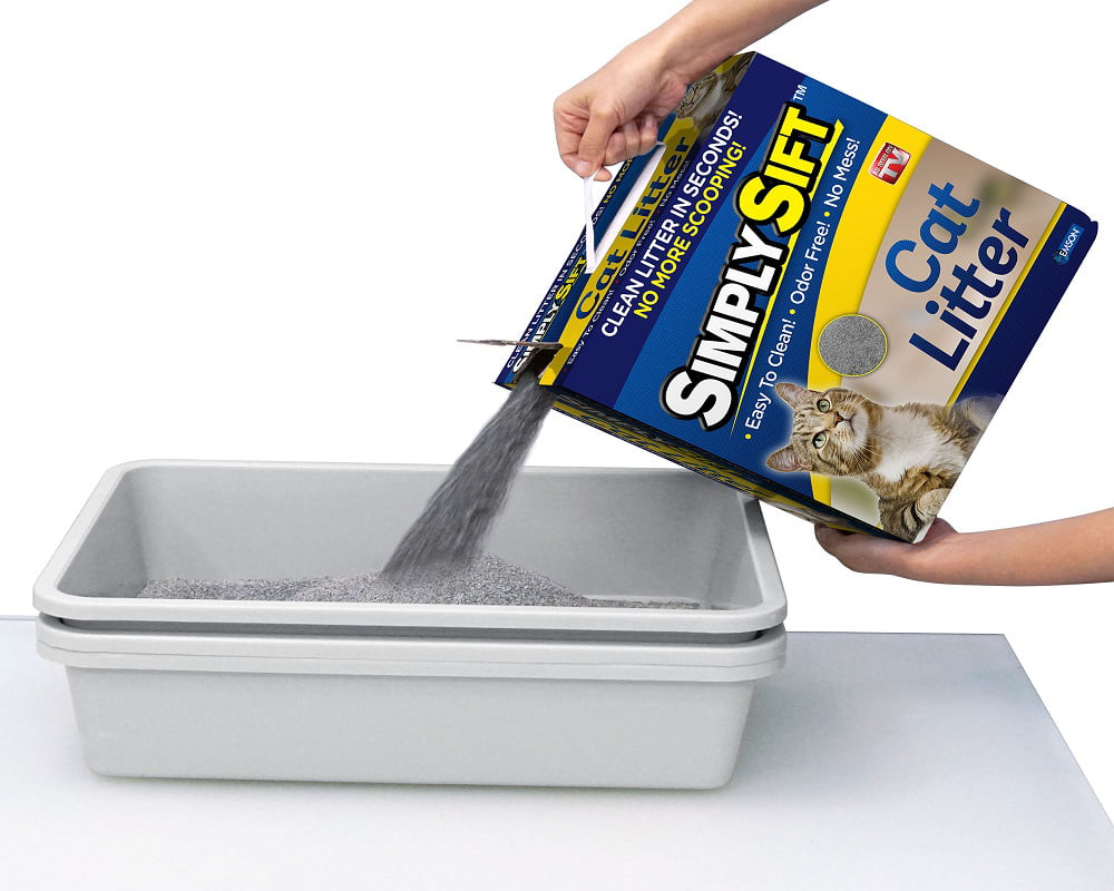 Simply Sift 3 Piece No Mess Cat Litter System - As Seen on TV
