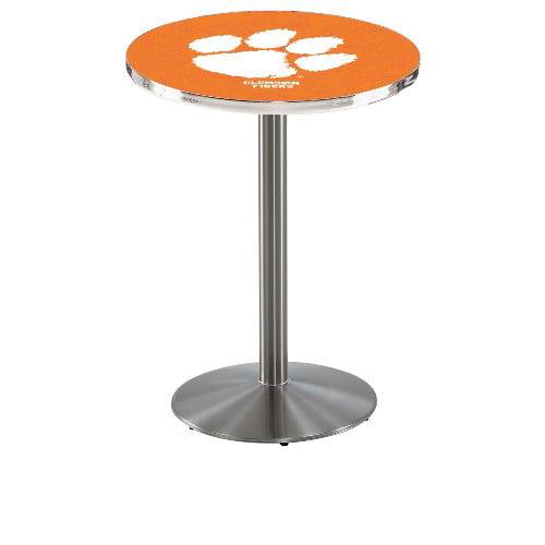NCAA Pub Table by Holland Bar Stool, Stainless - Clemson, 36'' - L214