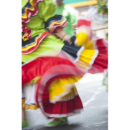 USA, California, San Francisco. Dancers in traditional dress at Cinco de Mayo parade. Print Wall Art By John & Lisa Merrill - Parade Halloween San Francisco