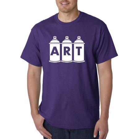 New Way 926 Unisex T Shirt Art Graffiti Spray Paint Cans Artist Small Purple