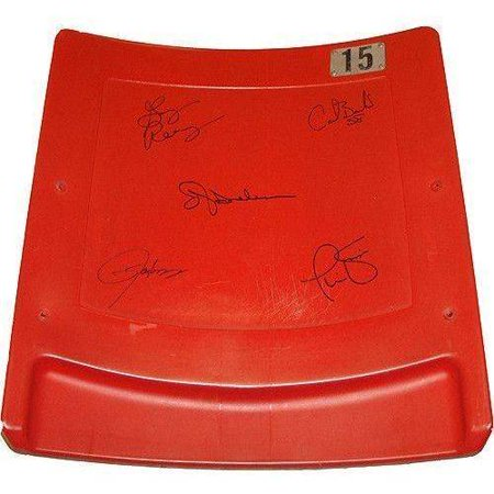 New York Giants Super Bowl XLII 5 Signature Seatback (LE  100) by