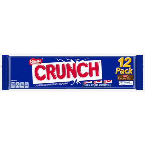 Nestle Crunch Candy Bars, 0.45 oz, 12 ct