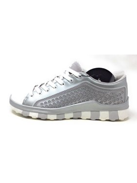 free shipping 9388c ce425 Product Image CCILU Mens Horizon Beyond Lace Up Sneaker Silver   White Size  7 ...