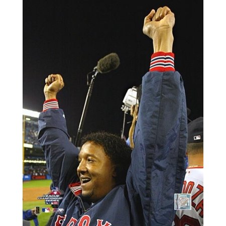 Pedro Martinez celebrating game 7 win of the 2004 ALCS Photo Print 2003 Alcs Game 7