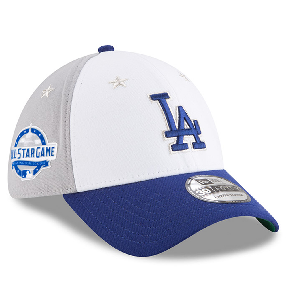 bc0e0d8fcc9277 ... sale los angeles dodgers new era 2018 mlb all star game 39thirty flex  hat white blue