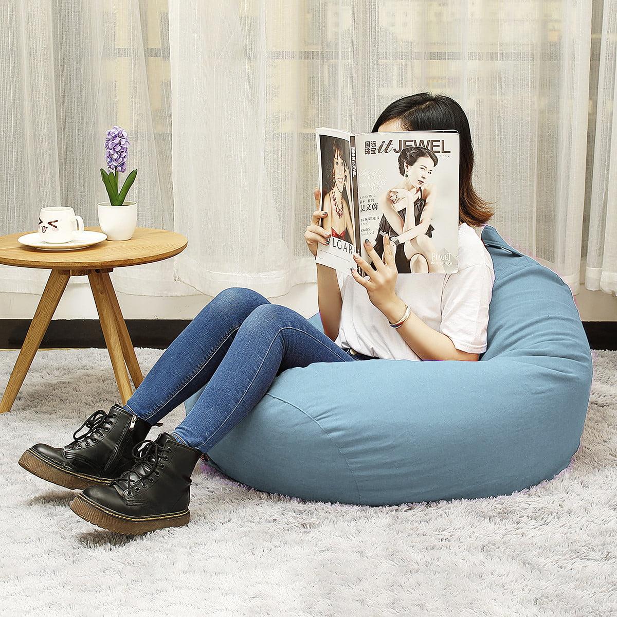 Waterproof Bean Bag Chair Floor Cushion Polyester Garden ...