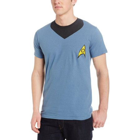 Star Trek Beyond Spock Uniform Men's T-Shirt (Star Trek Uniform Buy)