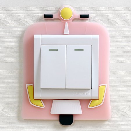 Switch Protection Cover Luminous Switch Stickers Wall stickers Motorcy