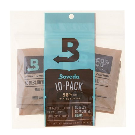 Boveda 58 Percent RH 2-Way Humidity Control, 8 gram - 10 Pack