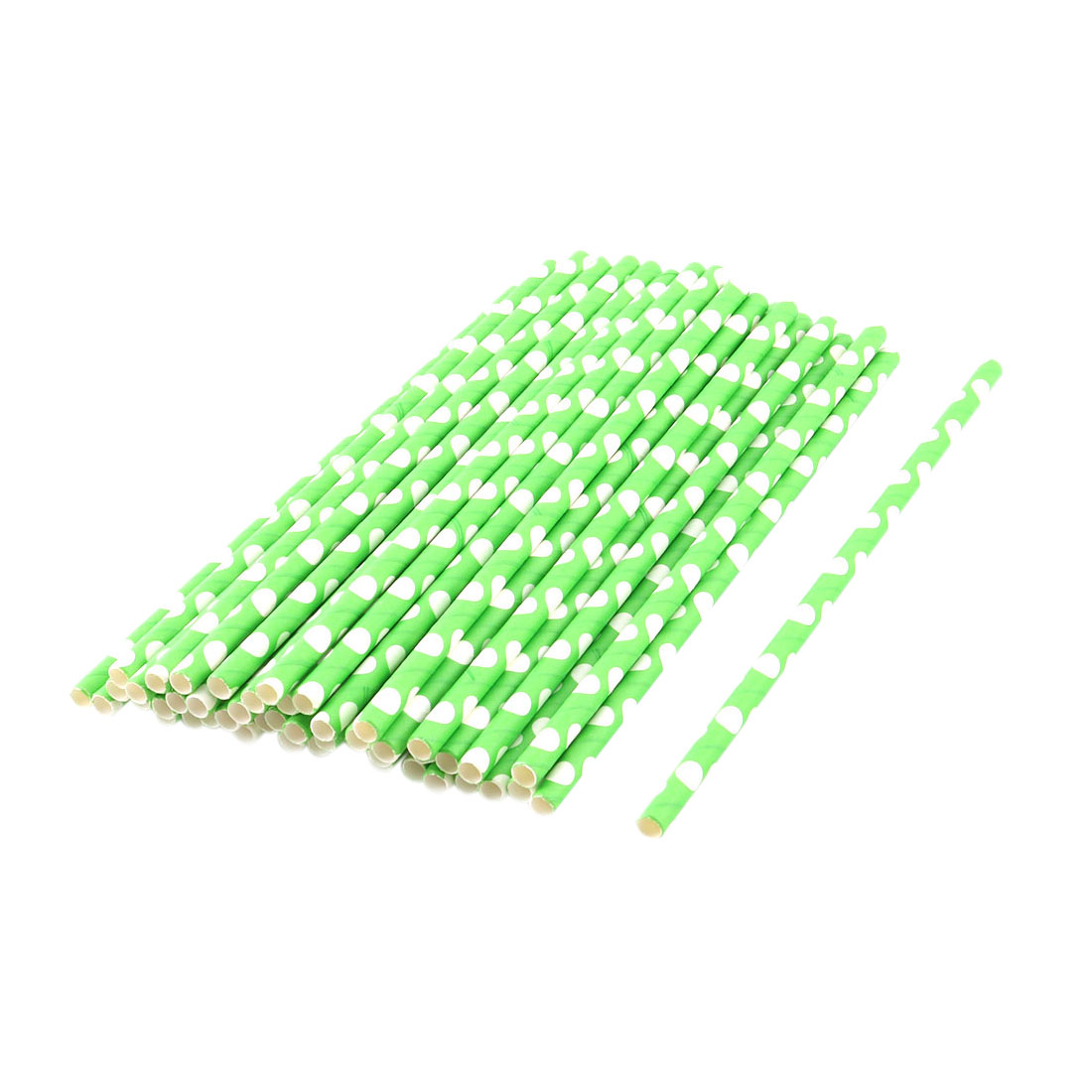 Home Paper Dots Pattern Coffee Juice Tea Beverage Drinking Straws 50ct