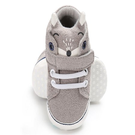Baby Girl Boys Fox Hight Cut Shoes Sneaker Anti-slip Soft Sole Toddler