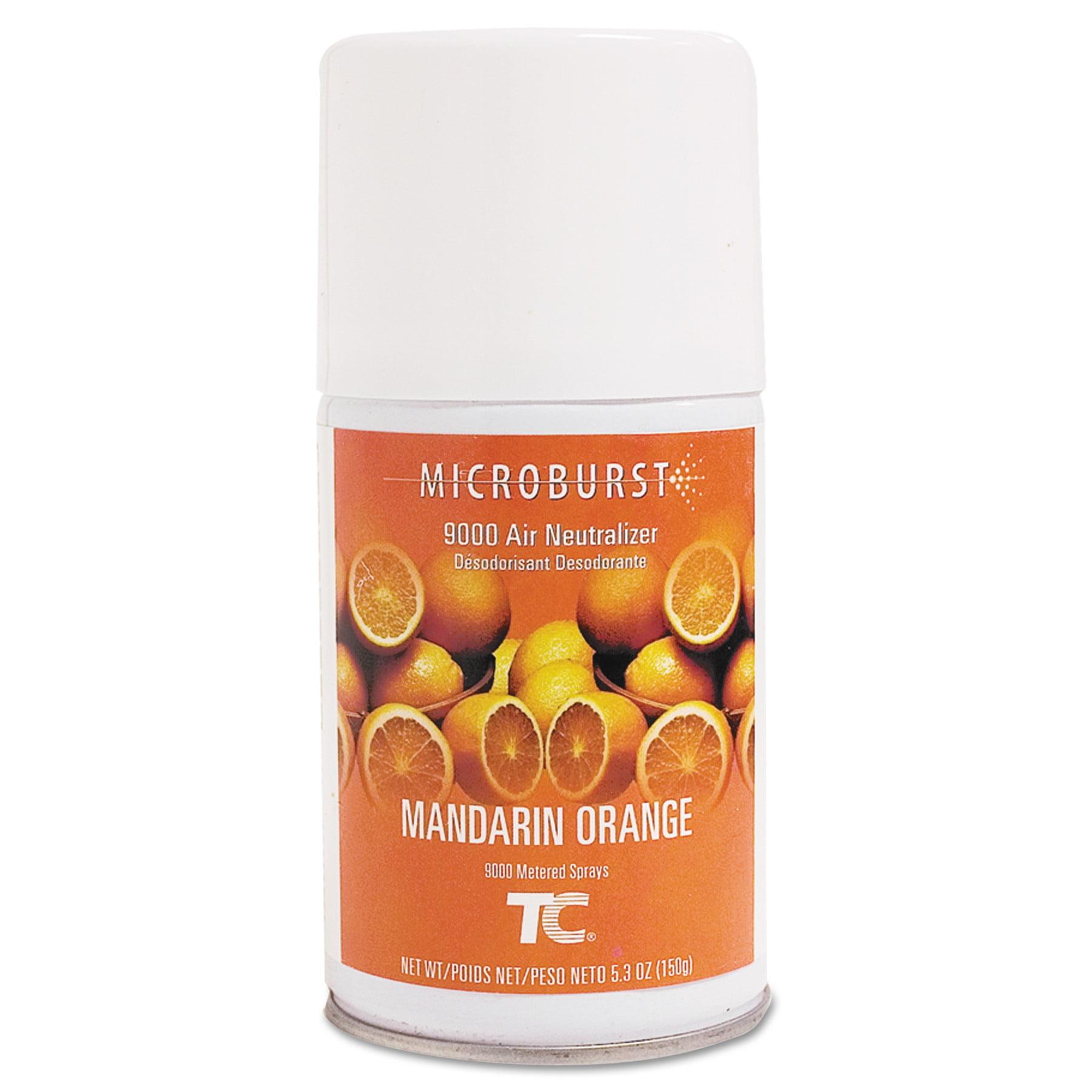 Rubbermaid Commercial Microburst 9000 Mandarin Orange Air Freshener Refills, 5.3 oz, 4 count
