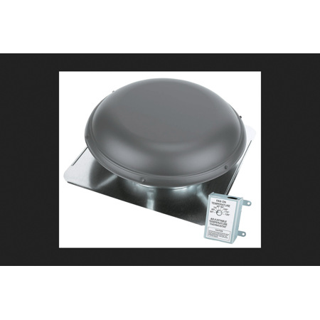 Air Vent Power Roof Ventilator 14 in. 2100 sq. ft. 1,500 cfm 1/6 hp 325 watts, 4.3 Amp Metal