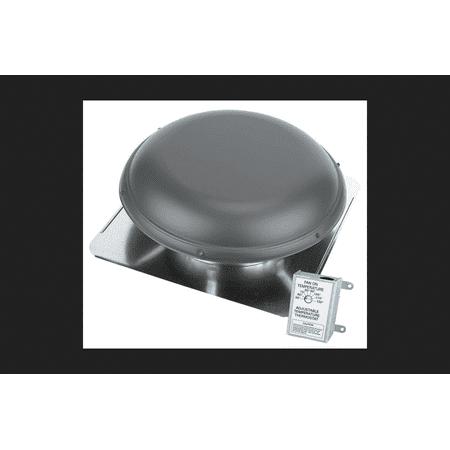 Air Vent Power Roof Ventilator 14 in. 2100 sq. ft. 1,500 cfm 1/6 hp 325 watts, 4.3 Amp Metal Brown (Powered Vent)